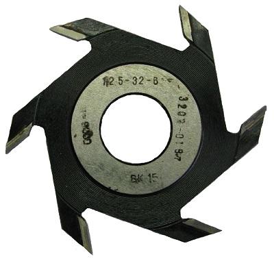 Фреза дисковая пазовая 125х32х6 z 6