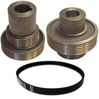 Шкивы и ремень (комплект) для станка Могилев ИЭ-6009А4.2